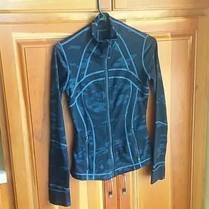 Lululemon Athletica oil slick camo define jacket